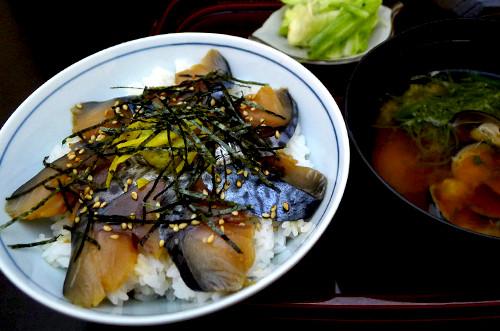 八戸銀サバづけ丼(汁付き)