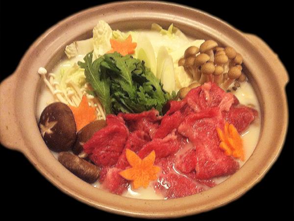倉石牛バラ肉の豆乳鍋