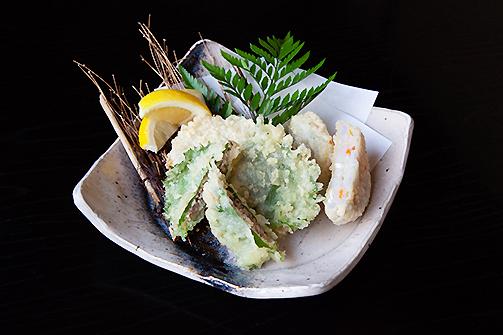 鯵たたき大葉包み揚げ 蓮根魚肉はさみ揚げ