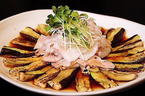 秋茄子焼と豚シャブ