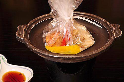 白身魚と秋きのこボイル焼き